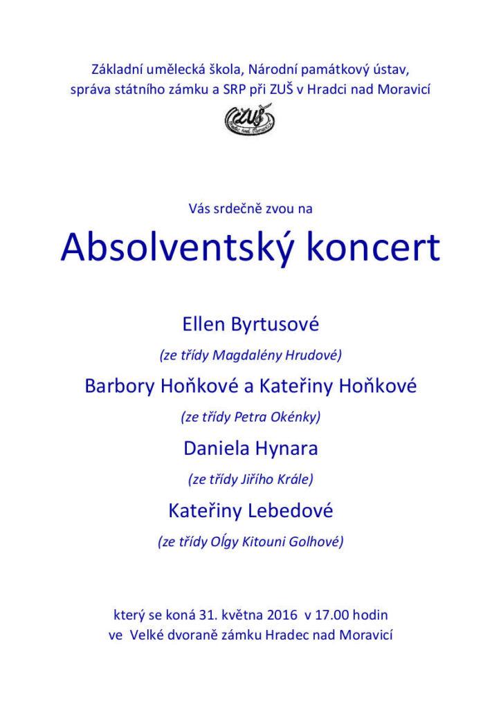 Absolventský koncert 2016